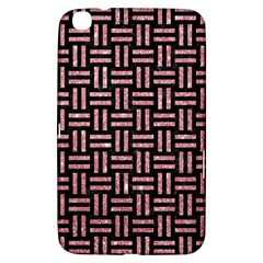 Woven1 Black Marble & Pink Glitter (r) Samsung Galaxy Tab 3 (8 ) T3100 Hardshell Case  by trendistuff