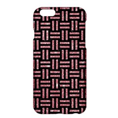 Woven1 Black Marble & Pink Glitter (r) Apple Iphone 6 Plus/6s Plus Hardshell Case by trendistuff