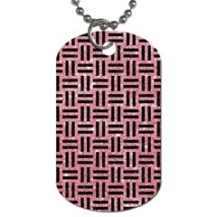 Woven1 Black Marble & Pink Glitter Dog Tag (two Sides) by trendistuff