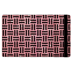 Woven1 Black Marble & Pink Glitter Apple Ipad 2 Flip Case by trendistuff
