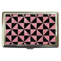Triangle1 Black Marble & Pink Glitter Cigarette Money Cases by trendistuff