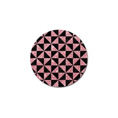 Triangle1 Black Marble & Pink Glitter Golf Ball Marker (4 Pack) by trendistuff