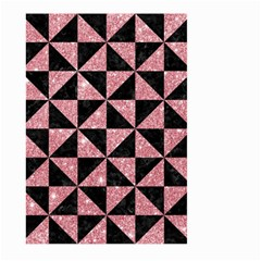 Triangle1 Black Marble & Pink Glitter Large Garden Flag (two Sides) by trendistuff