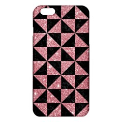 Triangle1 Black Marble & Pink Glitter Iphone 6 Plus/6s Plus Tpu Case