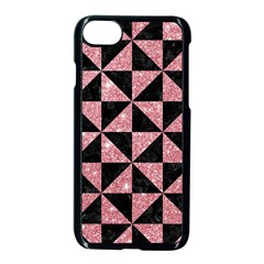 Triangle1 Black Marble & Pink Glitter Apple Iphone 8 Seamless Case (black)