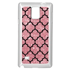 Tile1 Black Marble & Pink Glitter Samsung Galaxy Note 4 Case (white) by trendistuff
