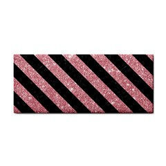 Stripes3 Black Marble & Pink Glitter Cosmetic Storage Cases by trendistuff