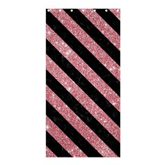 Stripes3 Black Marble & Pink Glitter Shower Curtain 36  X 72  (stall)  by trendistuff