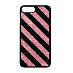 Stripes3 Black Marble & Pink Glitter Apple Iphone 8 Plus Seamless Case (black) by trendistuff