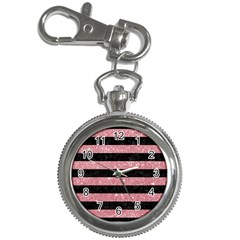 Stripes2black Marble & Pink Glitter Key Chain Watches