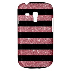 Stripes2black Marble & Pink Glitter Galaxy S3 Mini by trendistuff