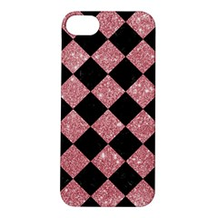 Square2 Black Marble & Pink Glitter Apple Iphone 5s/ Se Hardshell Case by trendistuff