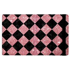 Square2 Black Marble & Pink Glitter Apple Ipad Pro 9 7   Flip Case by trendistuff