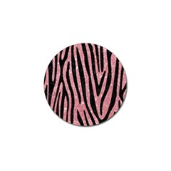 Skin4 Black Marble & Pink Glitter (r) Golf Ball Marker (4 Pack) by trendistuff