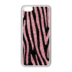 Skin4 Black Marble & Pink Glitter Apple Iphone 5c Seamless Case (white) by trendistuff