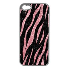 Skin3 Black Marble & Pink Glitter (r) Apple Iphone 5 Case (silver) by trendistuff