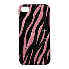Skin3 Black Marble & Pink Glitter (r) Apple Iphone 4/4s Hardshell Case With Stand by trendistuff