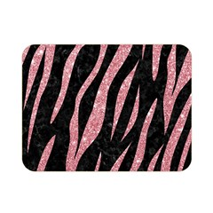 Skin3 Black Marble & Pink Glitter (r) Double Sided Flano Blanket (mini)  by trendistuff