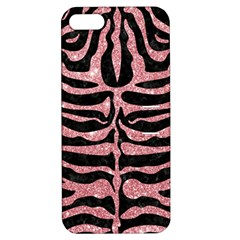 Skin2 Black Marble & Pink Glitter (r) Apple Iphone 5 Hardshell Case With Stand by trendistuff
