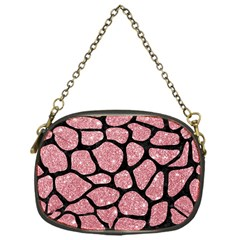 Skin1 Black Marble & Pink Glitter (r) Chain Purses (one Side)  by trendistuff