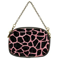 Skin1 Black Marble & Pink Glitter Chain Purses (one Side)  by trendistuff