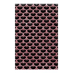 Scales3 Black Marble & Pink Glitter (r) Shower Curtain 48  X 72  (small)  by trendistuff