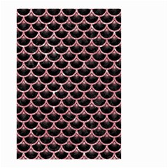 Scales3 Black Marble & Pink Glitter (r) Small Garden Flag (two Sides) by trendistuff