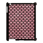 SCALES3 BLACK MARBLE & PINK GLITTER Apple iPad 3/4 Case (Black) Front