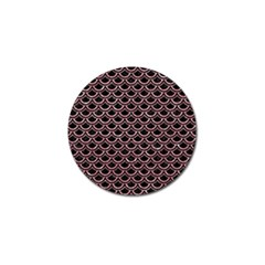 Scales2 Black Marble & Pink Glitter (r) Golf Ball Marker (4 Pack) by trendistuff