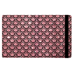 Scales2 Black Marble & Pink Glitter Apple Ipad 2 Flip Case
