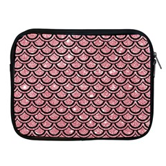 Scales2 Black Marble & Pink Glitter Apple Ipad 2/3/4 Zipper Cases by trendistuff