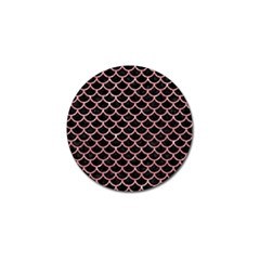 Scales1 Black Marble & Pink Glitter (r) Golf Ball Marker (10 Pack) by trendistuff
