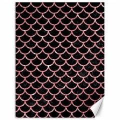 Scales1 Black Marble & Pink Glitter (r) Canvas 12  X 16   by trendistuff