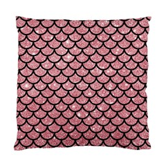 Scales1 Black Marble & Pink Glitter Standard Cushion Case (two Sides) by trendistuff