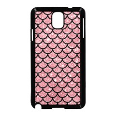 Scales1 Black Marble & Pink Glitter Samsung Galaxy Note 3 Neo Hardshell Case (black) by trendistuff