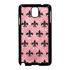 Royal1 Black Marble & Pink Glitter (r) Samsung Galaxy Note 3 Neo Hardshell Case (black) by trendistuff