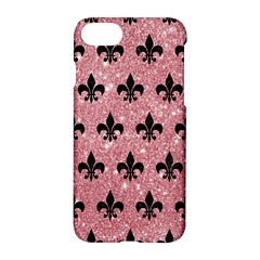 Royal1 Black Marble & Pink Glitter (r) Apple Iphone 7 Hardshell Case by trendistuff