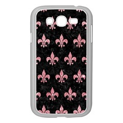 Royal1 Black Marble & Pink Glitter Samsung Galaxy Grand Duos I9082 Case (white) by trendistuff