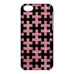 Puzzle1 Black Marble & Pink Glitter Apple Iphone 5c Hardshell Case by trendistuff