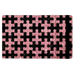 Puzzle1 Black Marble & Pink Glitter Apple Ipad Pro 9 7   Flip Case by trendistuff
