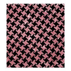 Houndstooth2 Black Marble & Pink Glitter Shower Curtain 66  X 72  (large)  by trendistuff