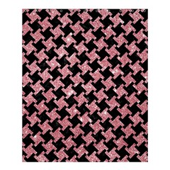 Houndstooth2 Black Marble & Pink Glitter Shower Curtain 60  X 72  (medium)  by trendistuff