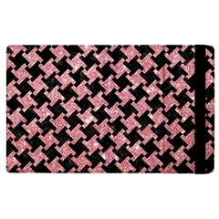 Houndstooth2 Black Marble & Pink Glitter Apple Ipad Pro 9 7   Flip Case by trendistuff