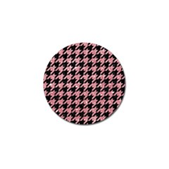 Houndstooth1 Black Marble & Pink Glitter Golf Ball Marker (4 Pack) by trendistuff