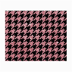 Houndstooth1 Black Marble & Pink Glitter Small Glasses Cloth