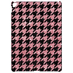 Houndstooth1 Black Marble & Pink Glitter Apple Ipad Pro 12 9   Hardshell Case by trendistuff