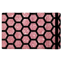 Hexagon2 Black Marble & Pink Glitter Apple Ipad Pro 9 7   Flip Case by trendistuff