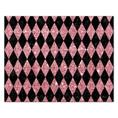 Diamond1 Black Marble & Pink Glitter Rectangular Jigsaw Puzzl by trendistuff