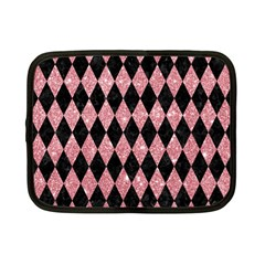 Diamond1 Black Marble & Pink Glitter Netbook Case (small)  by trendistuff