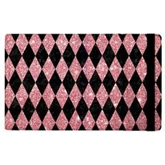 Diamond1 Black Marble & Pink Glitter Apple Ipad Pro 12 9   Flip Case by trendistuff